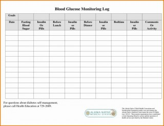 000 Remarkable Free Blood Sugar Log Template Pdf Image 320