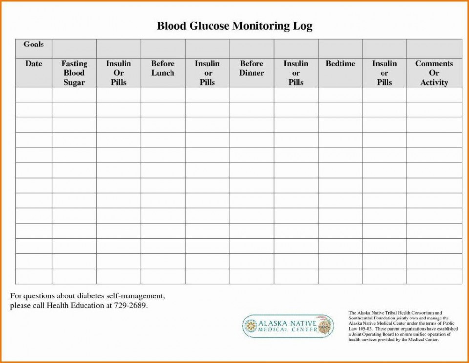 000 Remarkable Free Blood Sugar Log Template Pdf Image 960