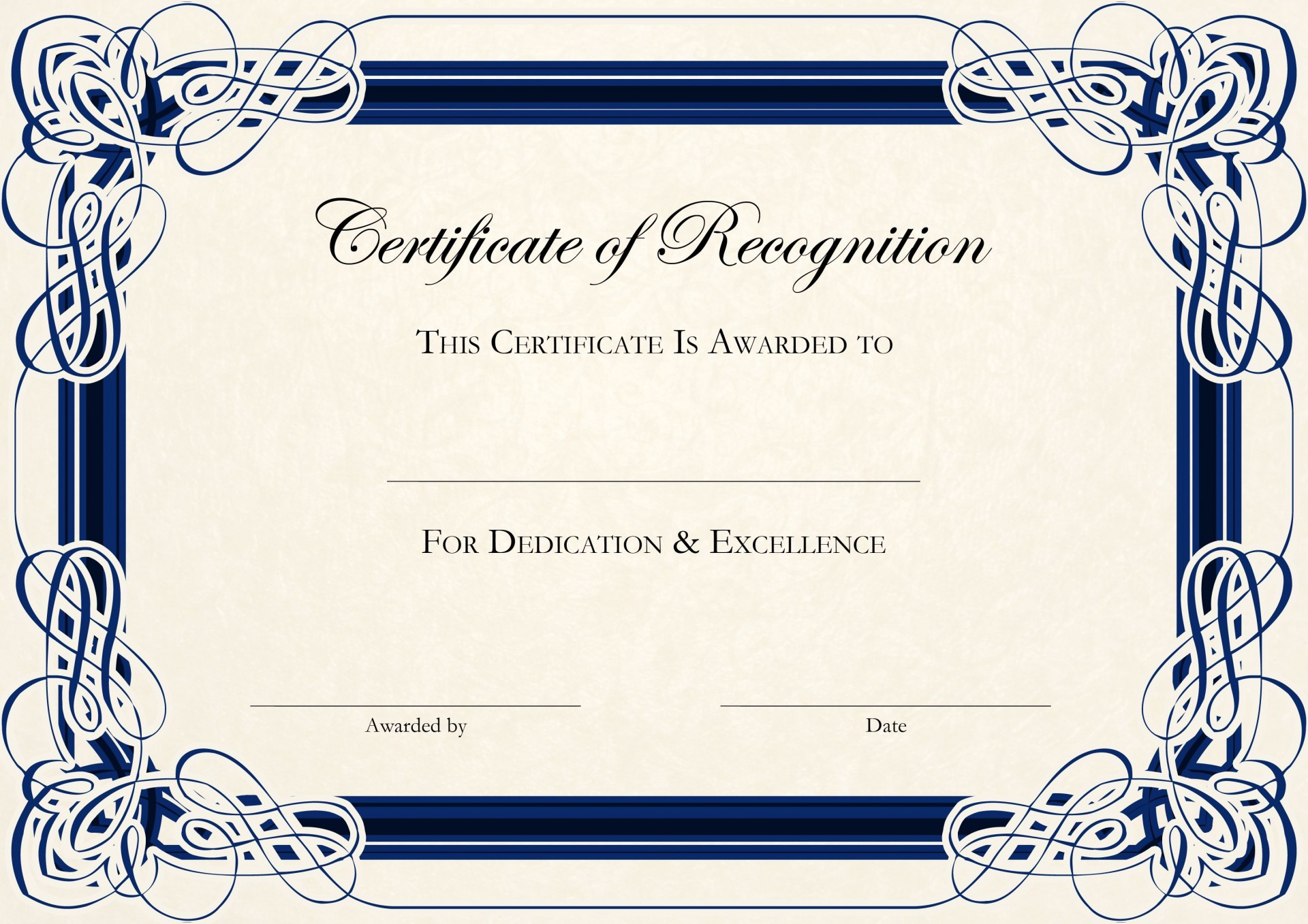 000 Remarkable Free Certificate Template Word Download Picture  Of Appreciation Doc Award Border1920