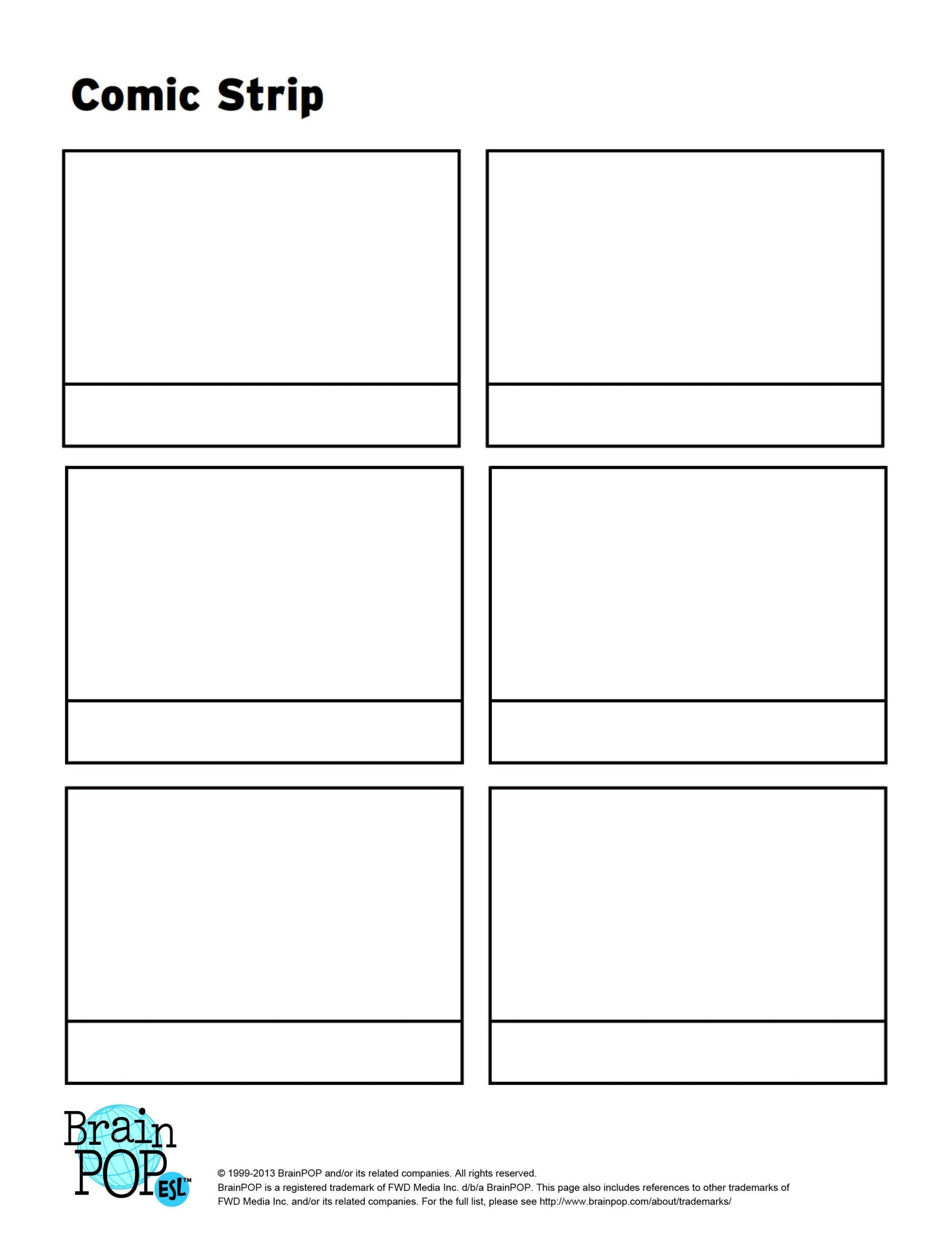 000 Remarkable Free Comic Strip Template Word Idea 1920