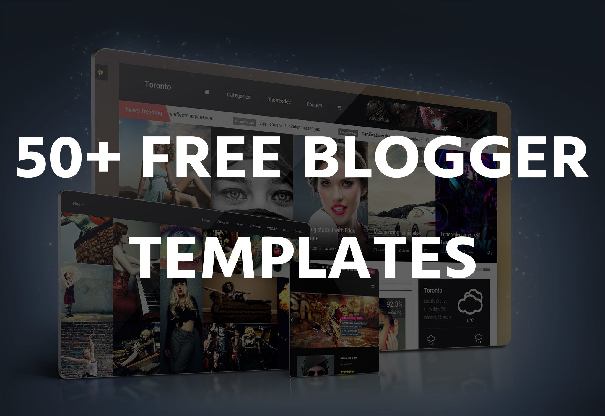 000 Remarkable Free Responsive Portfolio Blogger Template High Resolution Full