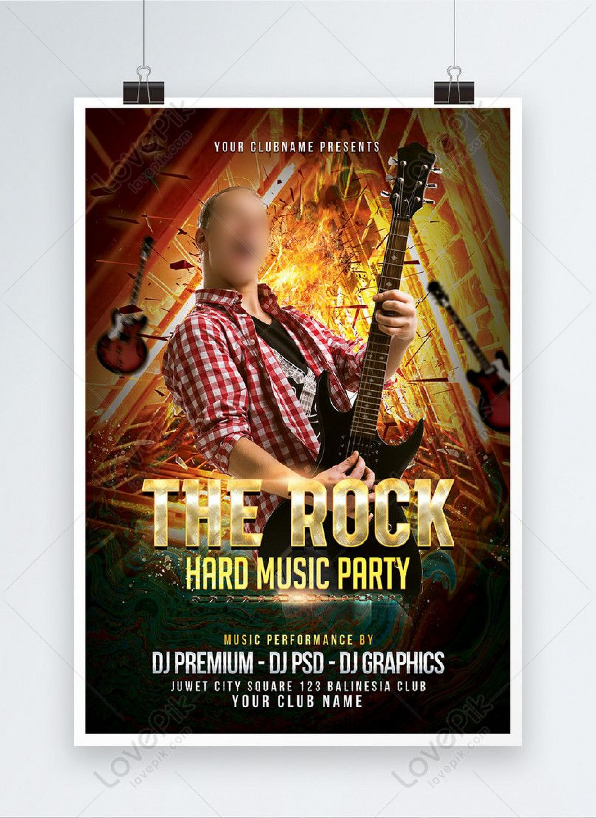 000 Remarkable Free Rock Concert Poster Template Psd Concept 1920
