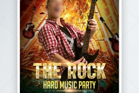 000 Remarkable Free Rock Concert Poster Template Psd Concept