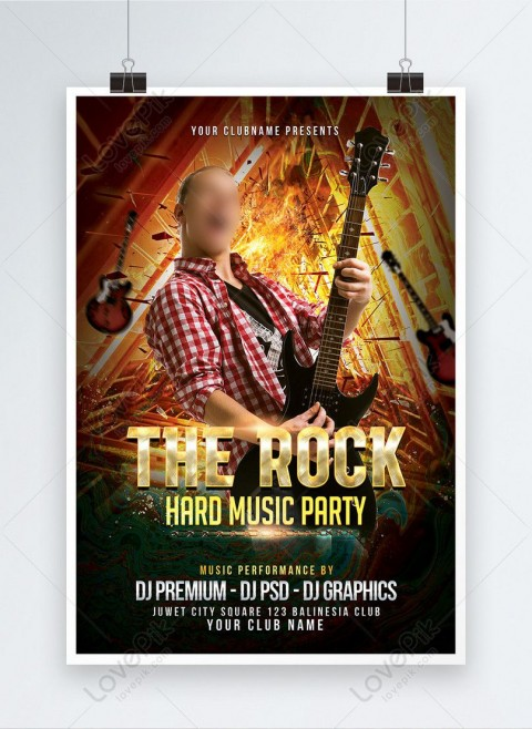 000 Remarkable Free Rock Concert Poster Template Psd Concept 480