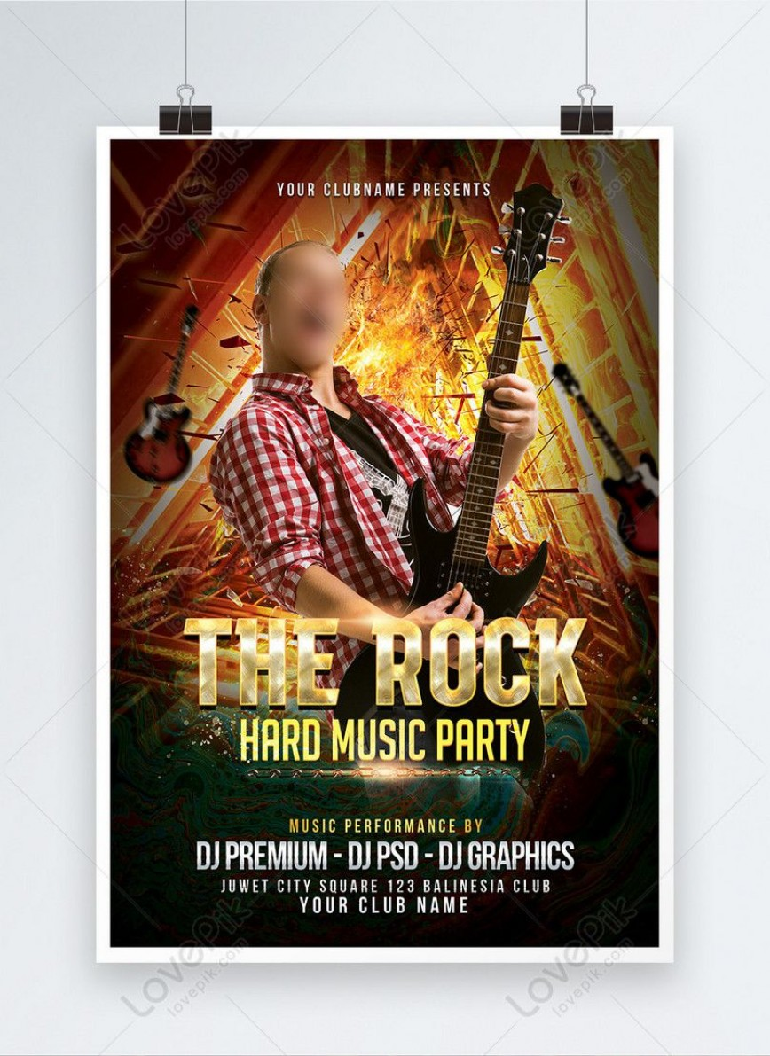 000 Remarkable Free Rock Concert Poster Template Psd Concept 868