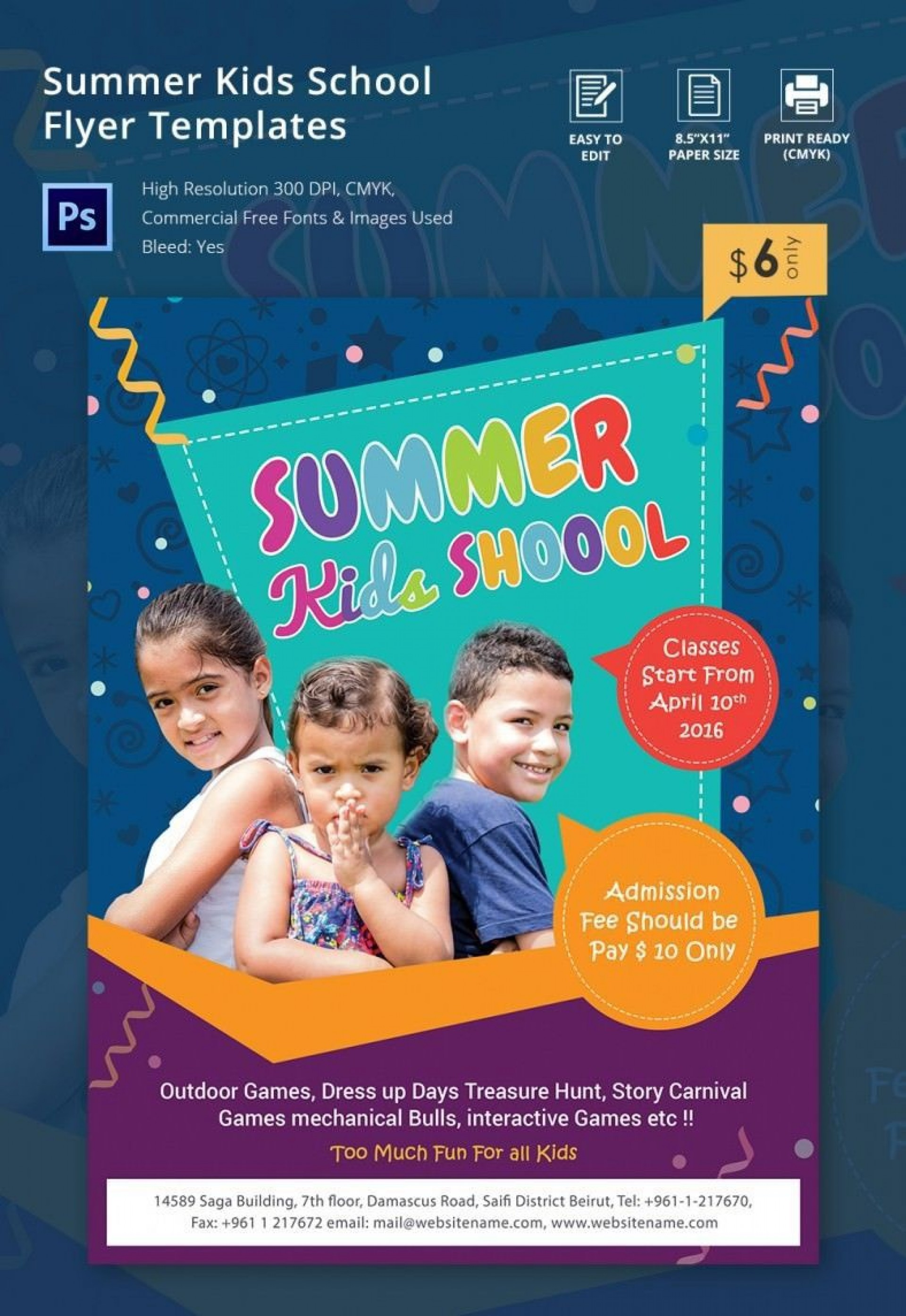 000 Remarkable Free School Event Flyer Template Example  Templates1920