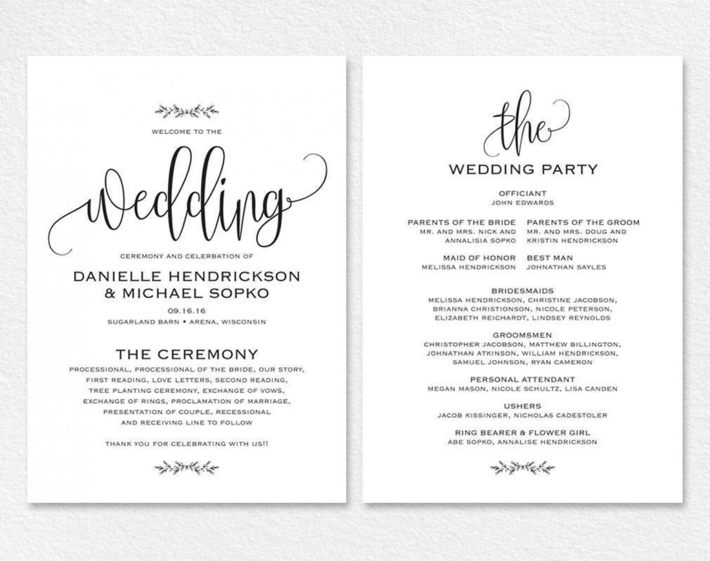 000 Remarkable Free Wedding Order Of Service Template Word Example  Microsoft1400