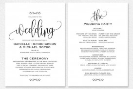000 Remarkable Free Wedding Order Of Service Template Word Example  Microsoft