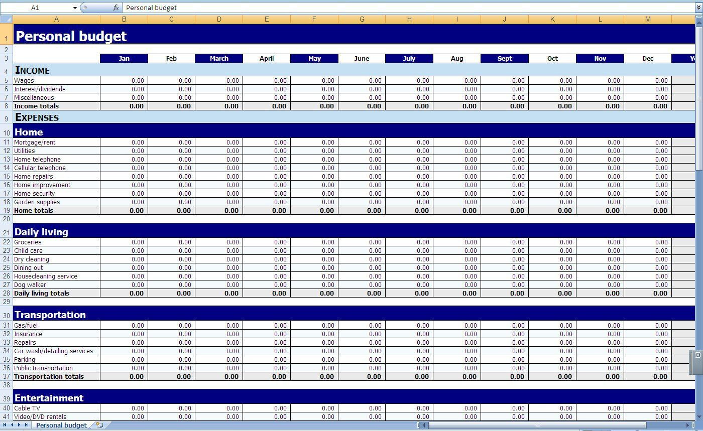 000 Remarkable Monthly Expense Excel Template Image  Budget Spreadsheet India Household Uk PlannerFull