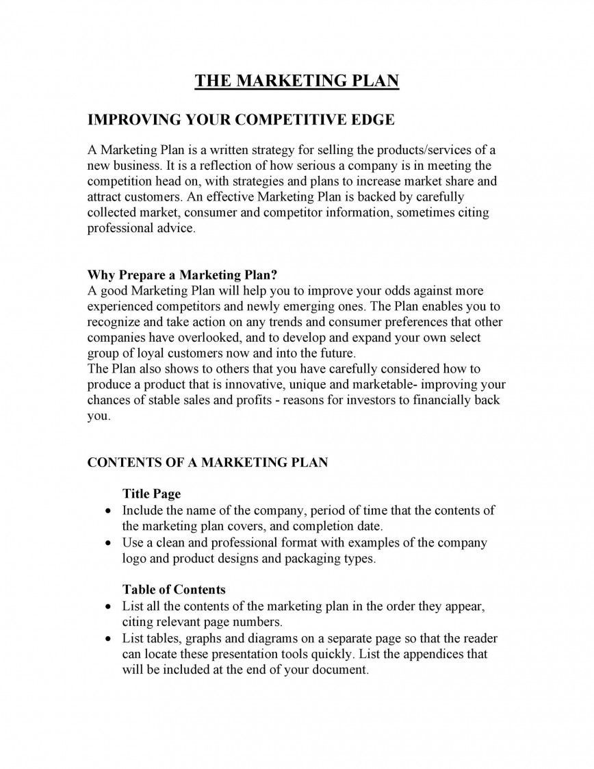 000 Remarkable Network Marketing Busines Plan Template Inspiration  Pdf