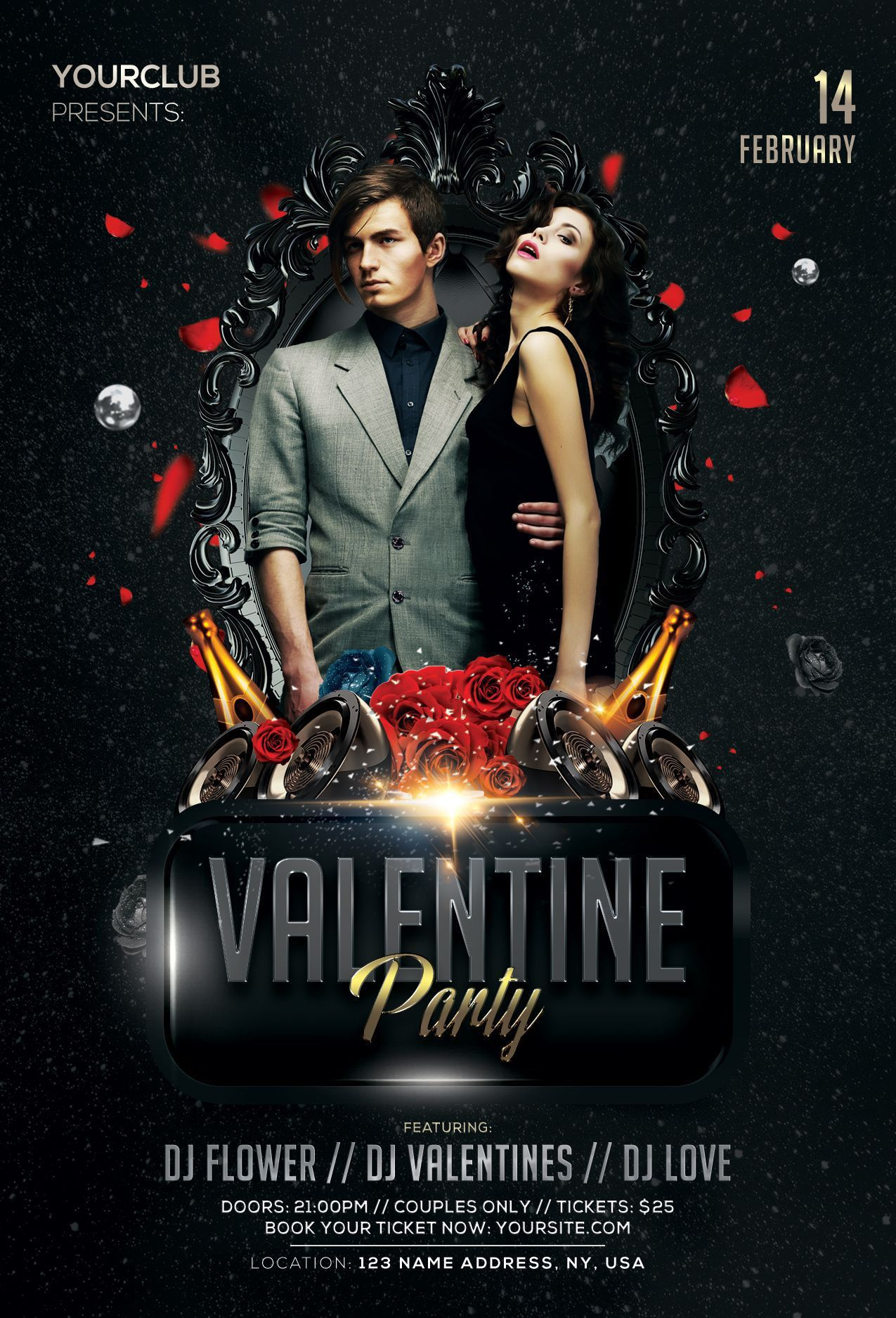 000 Remarkable Party Flyer Psd Template Free Download Example  RaveFull