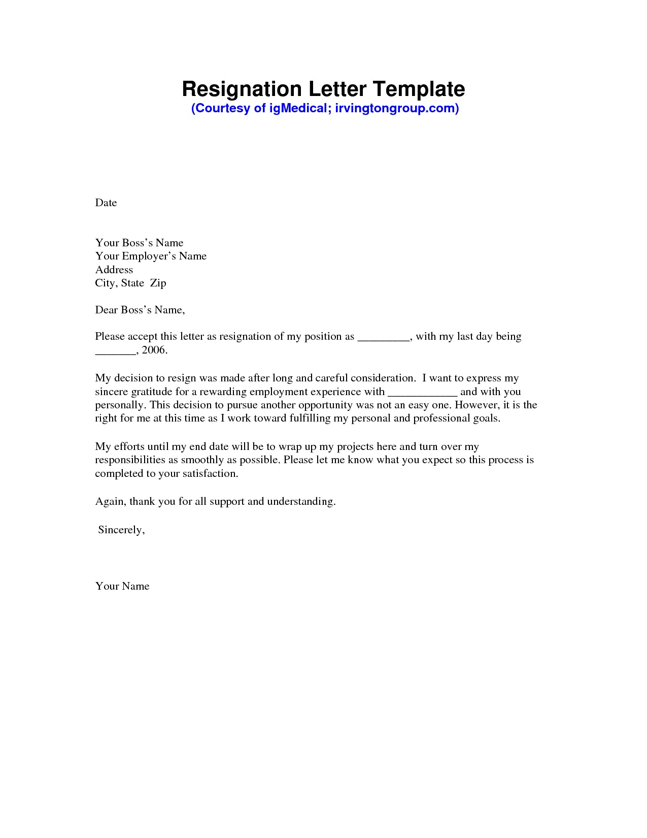 000 Remarkable Professional Resignation Letter Template Image  Best Format Pdf How To Write AFull