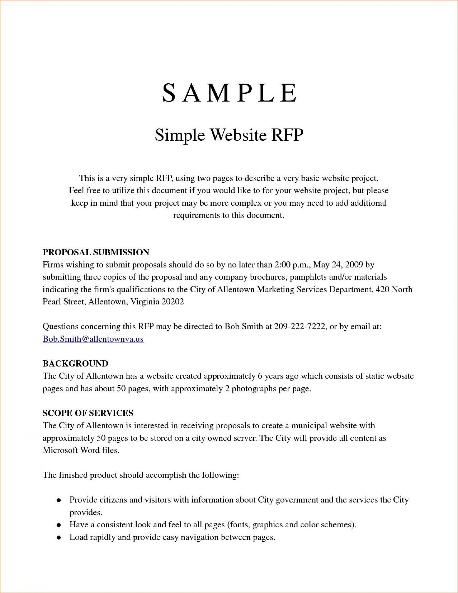 000 Remarkable Request For Proposal Template Word Free Sample 1920
