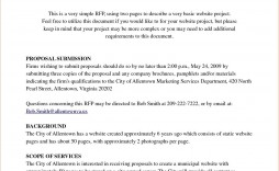 000 Remarkable Request For Proposal Template Word Free Sample