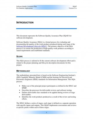 000 Remarkable Software Project Management Plan Example Pdf High Definition  Risk Template320