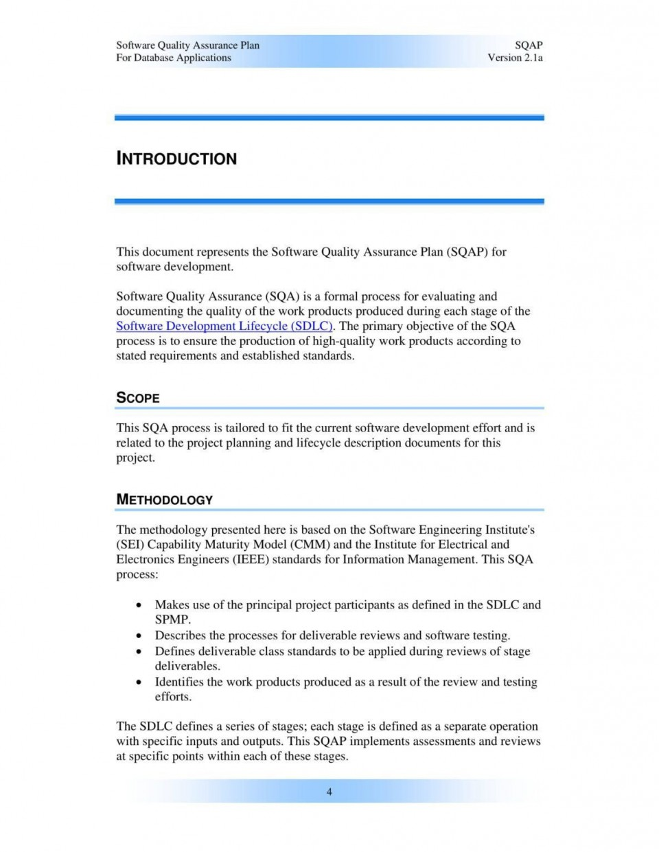 000 Remarkable Software Project Management Plan Example Pdf High Definition  Risk Template960