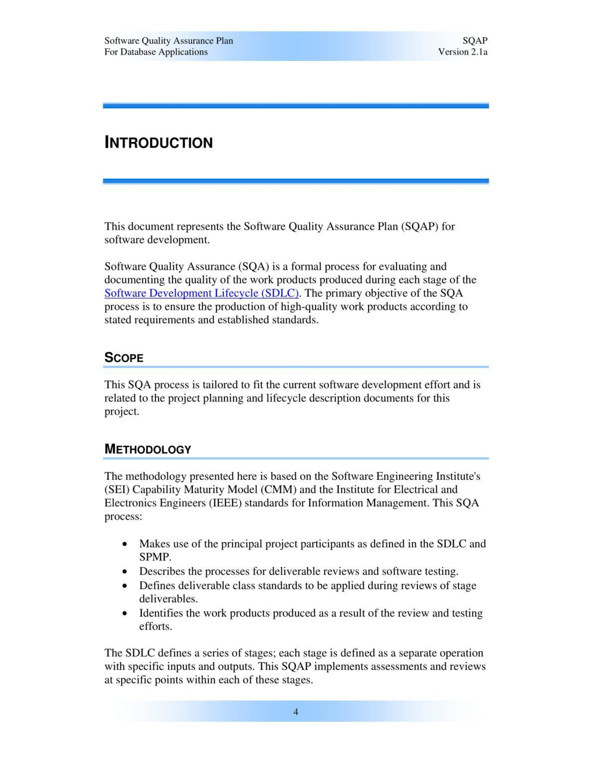 000 Remarkable Software Project Management Plan Example Pdf High Definition  RiskFull