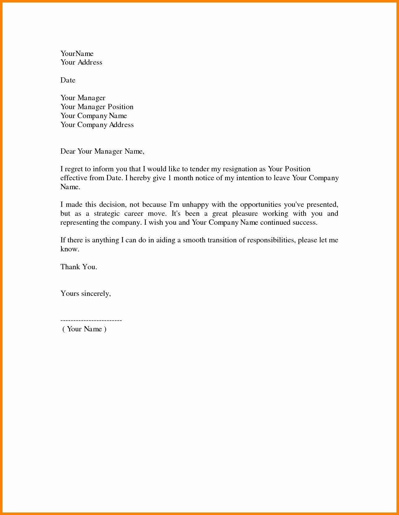 000 Remarkable Template For Letter Of Resignation Idea  Free With Notice Period WordFull