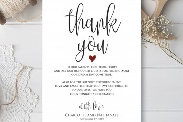 000 Remarkable Thank You Card Template Idea  Wedding Busines Word Free360