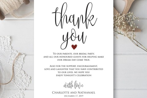 000 Remarkable Thank You Card Template Idea  Wedding Busines Word Free480