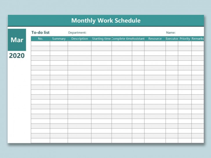 000 Remarkable Work Schedule Calendar Template Excel Example 728
