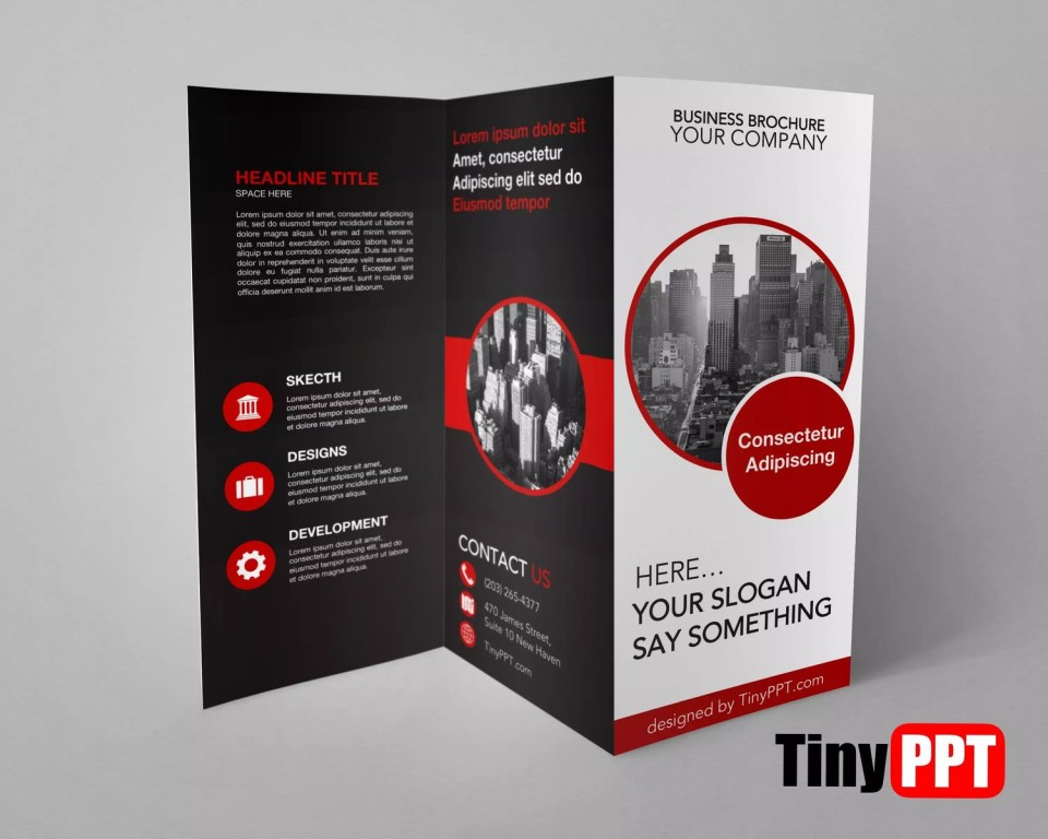 000 Sensational 3 Fold Brochure Template Doc High Definition  Google960