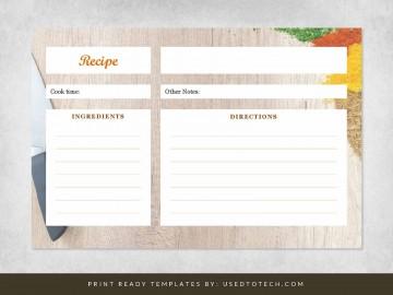 000 Sensational 4 X 6 Recipe Card Template Microsoft Word Sample 360
