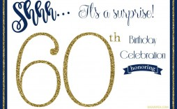 000 Sensational 60th Birthday Invitation Template Highest Clarity  Card Free Download