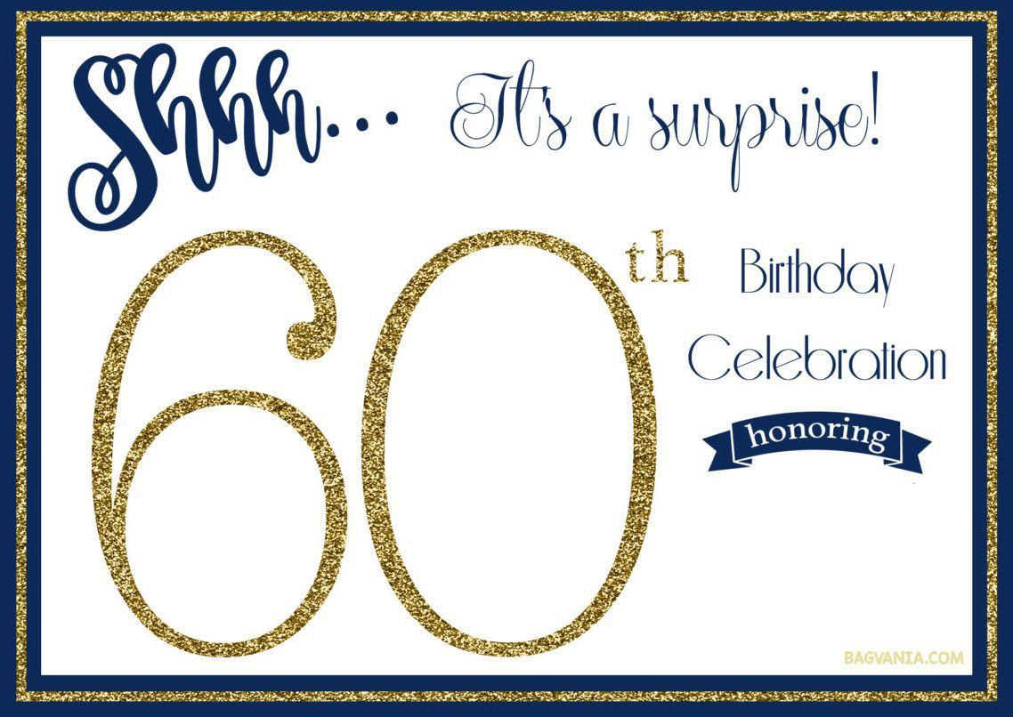000 Sensational 60th Birthday Invitation Template Highest Clarity  Card Free DownloadFull