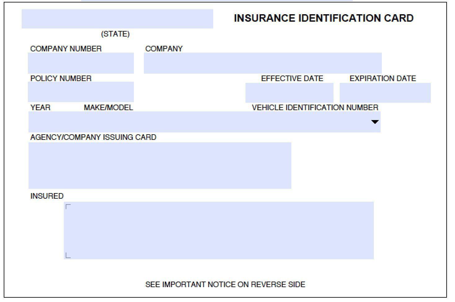 000 Sensational Auto Insurance Card Template Pdf Inspiration  Car Fake Geico FillerFull