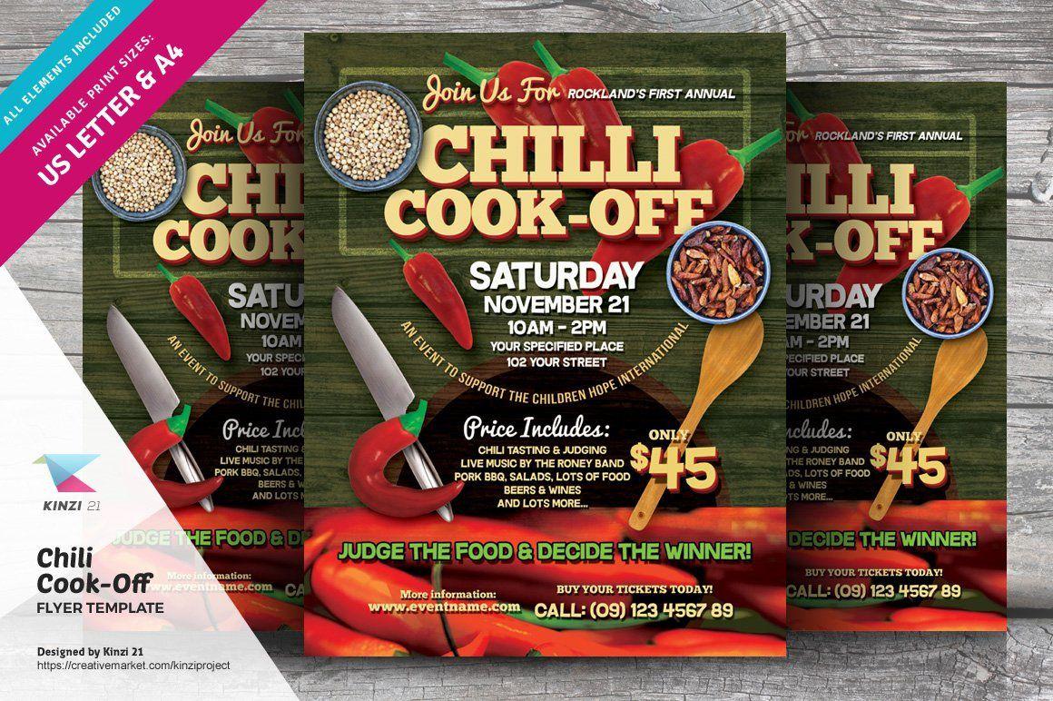 000 Sensational Chili Cook Off Flyer Template Photo  Halloween Office PowerpointFull