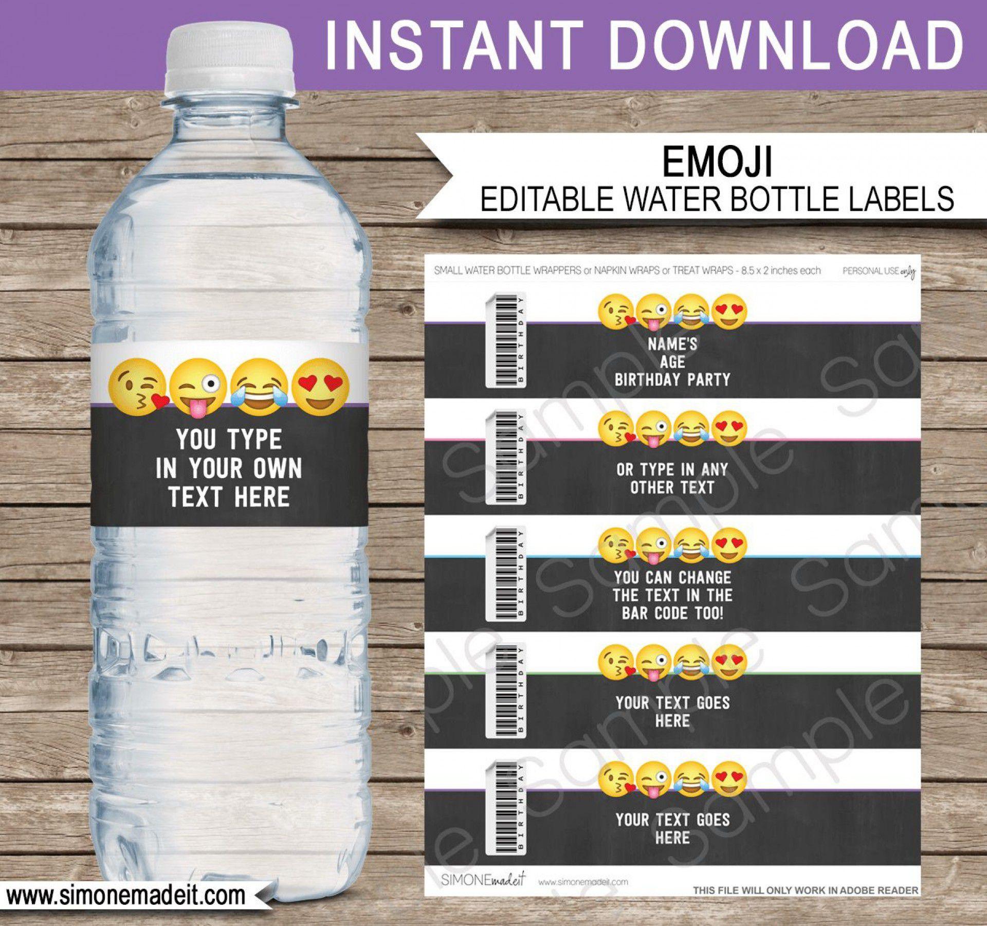 000 Sensational Diy Water Bottle Label Template Free Highest Clarity Full
