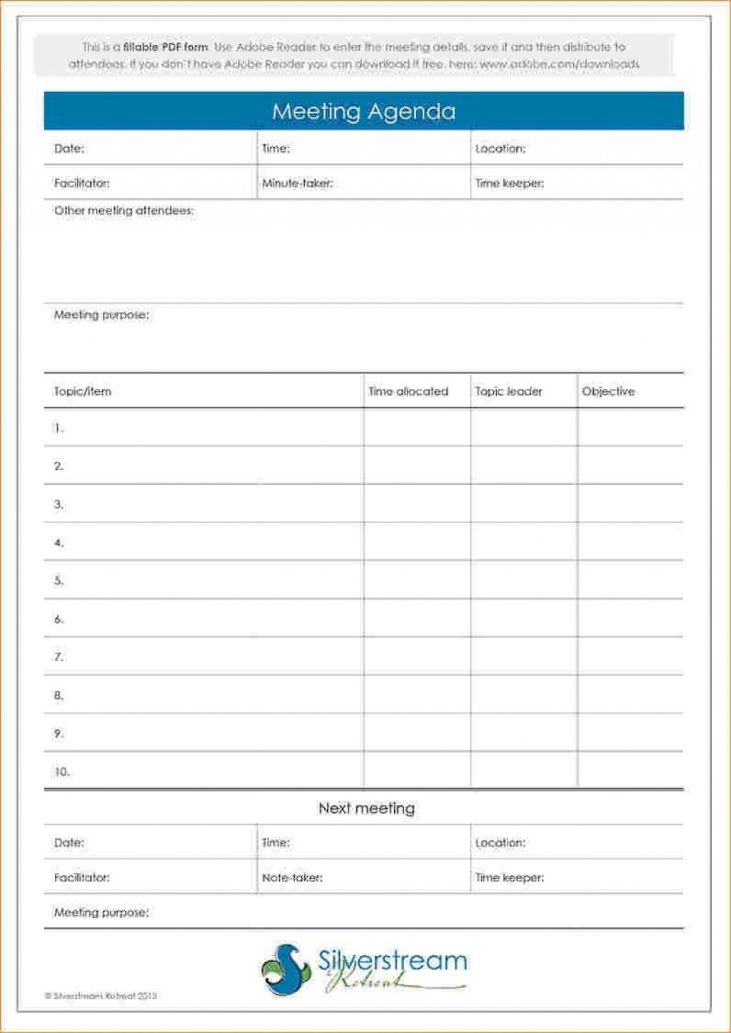 000 Sensational Formal Meeting Agenda Template Excel Picture Large