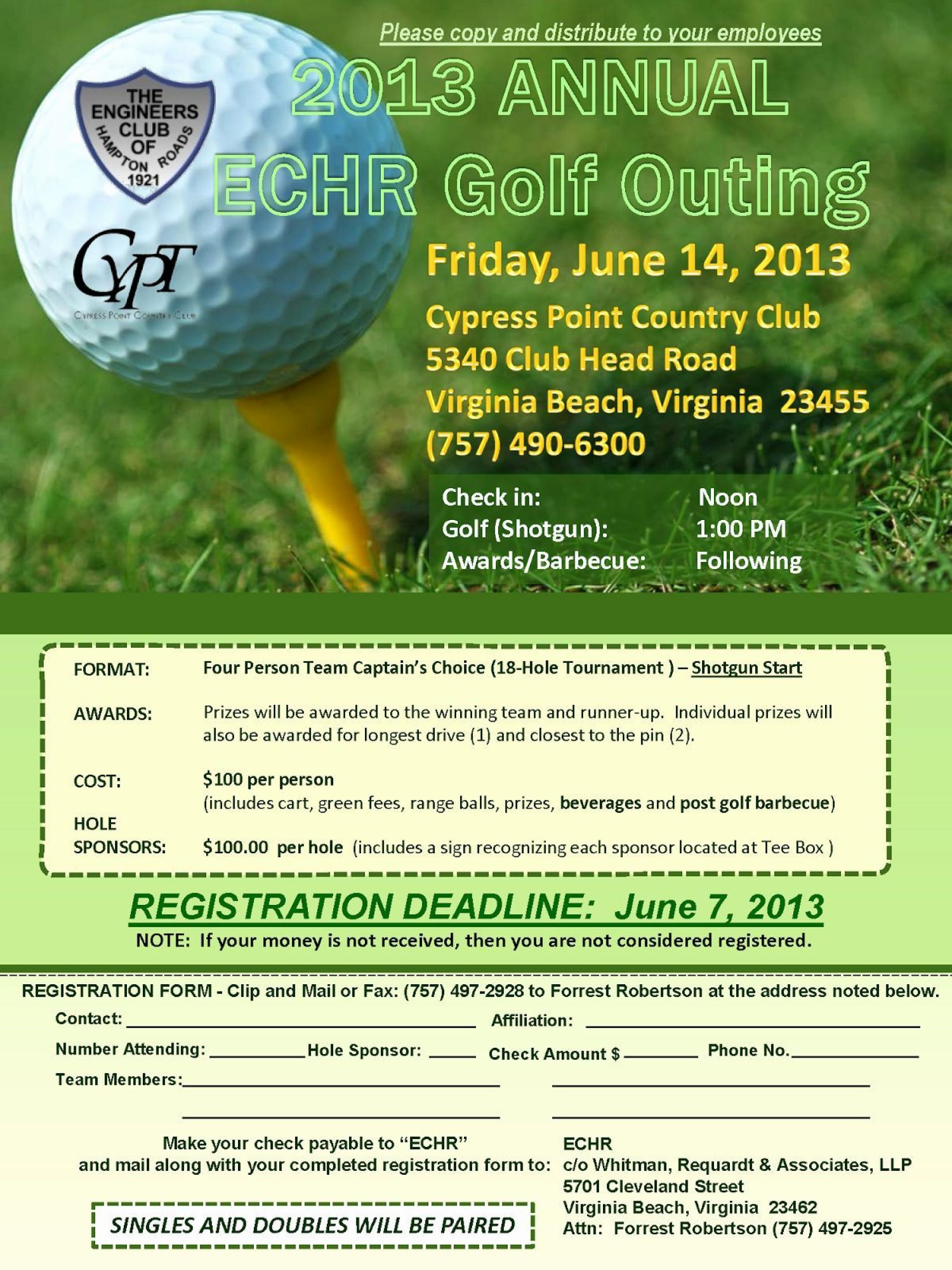 000 Sensational Free Charity Golf Tournament Flyer Template Example 1920