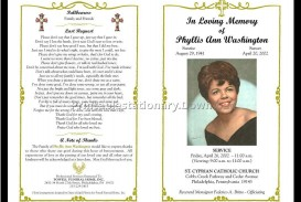 000 Sensational Free Download Template For Funeral Program Design
