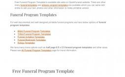 000 Sensational Free Funeral Program Template Download Design  2010 Downloadable Editable Pdf Blank