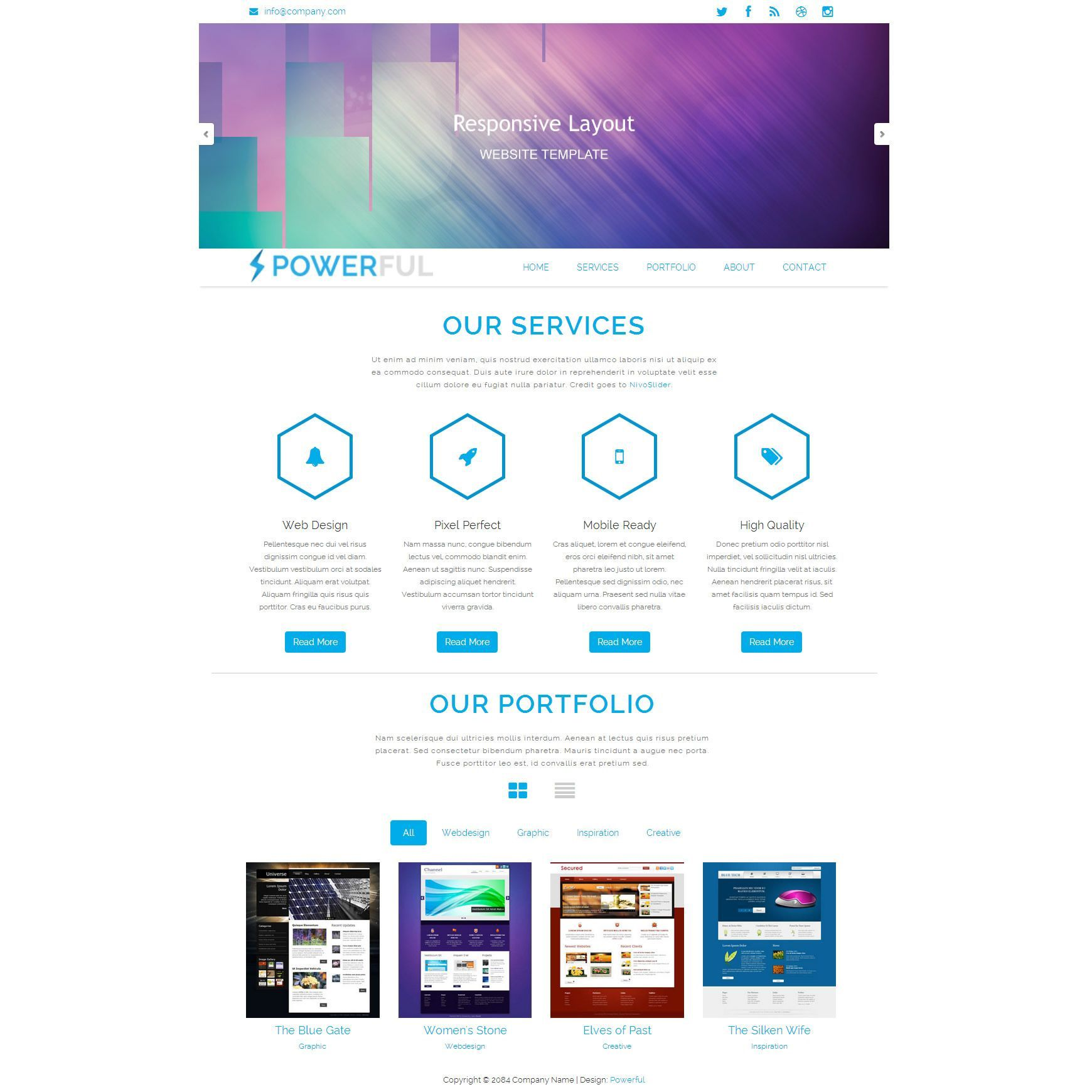 000 Sensational Free Html Responsive Website Template Download Picture  And Cs Jquery For It Company With WebFull