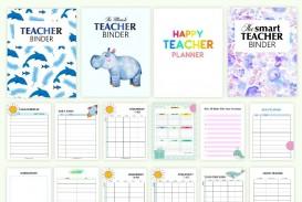 000 Sensational Free Printable Teacher Binder Template High Def