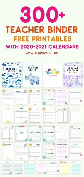 000 Sensational Free Printable Teacher Binder Template High Def 320