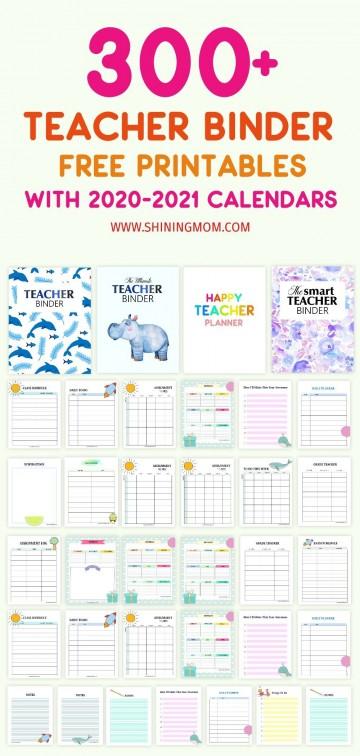 000 Sensational Free Printable Teacher Binder Template High Def 360