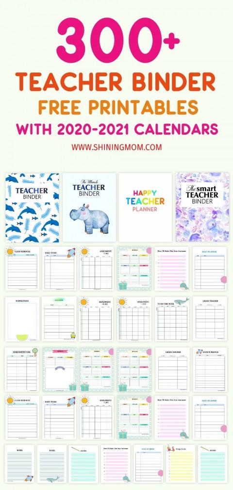 000 Sensational Free Printable Teacher Binder Template High Def 480