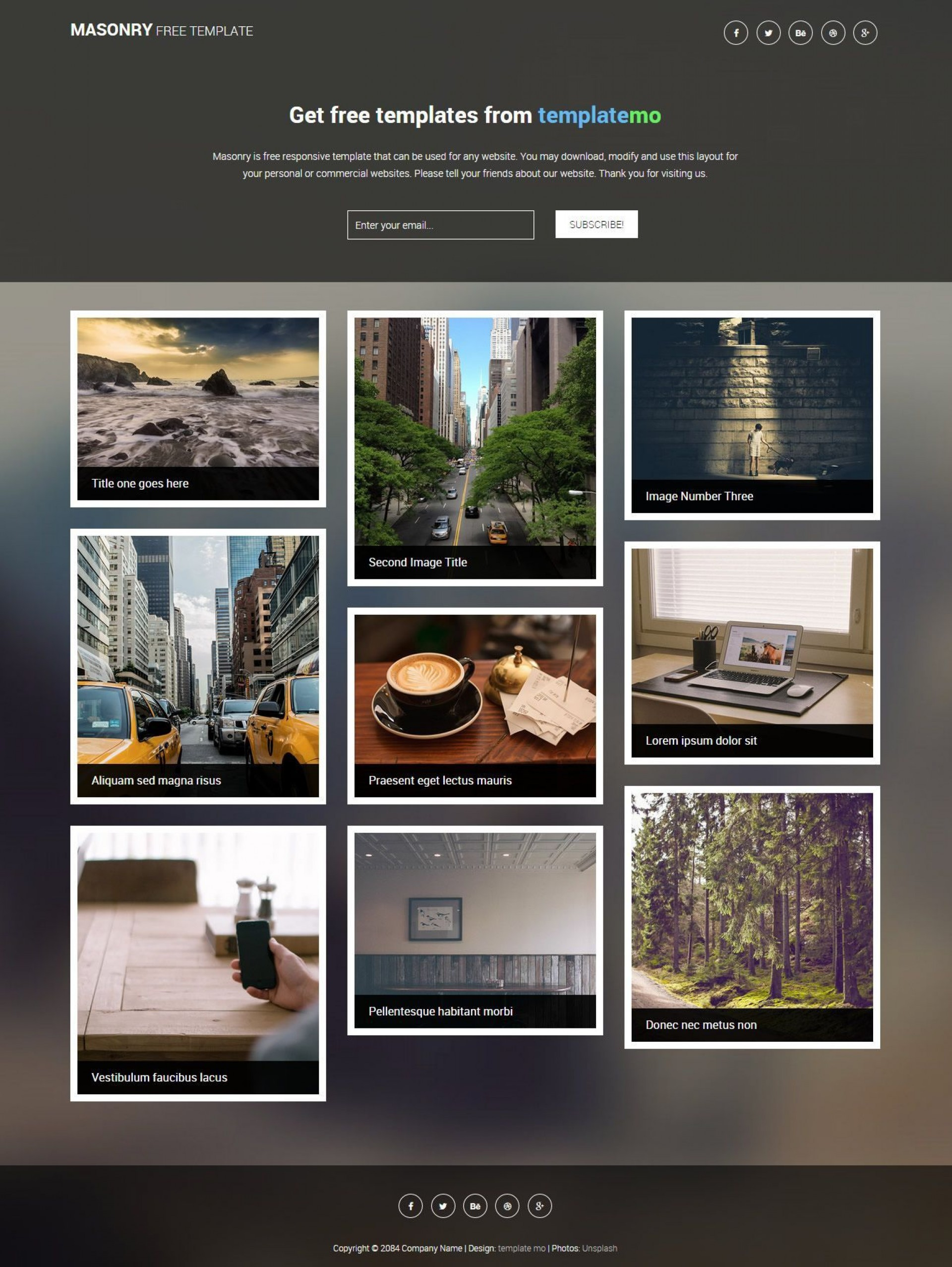 000 Sensational Free Website Template Download Html And Cs For Photo Gallery Sample 1920