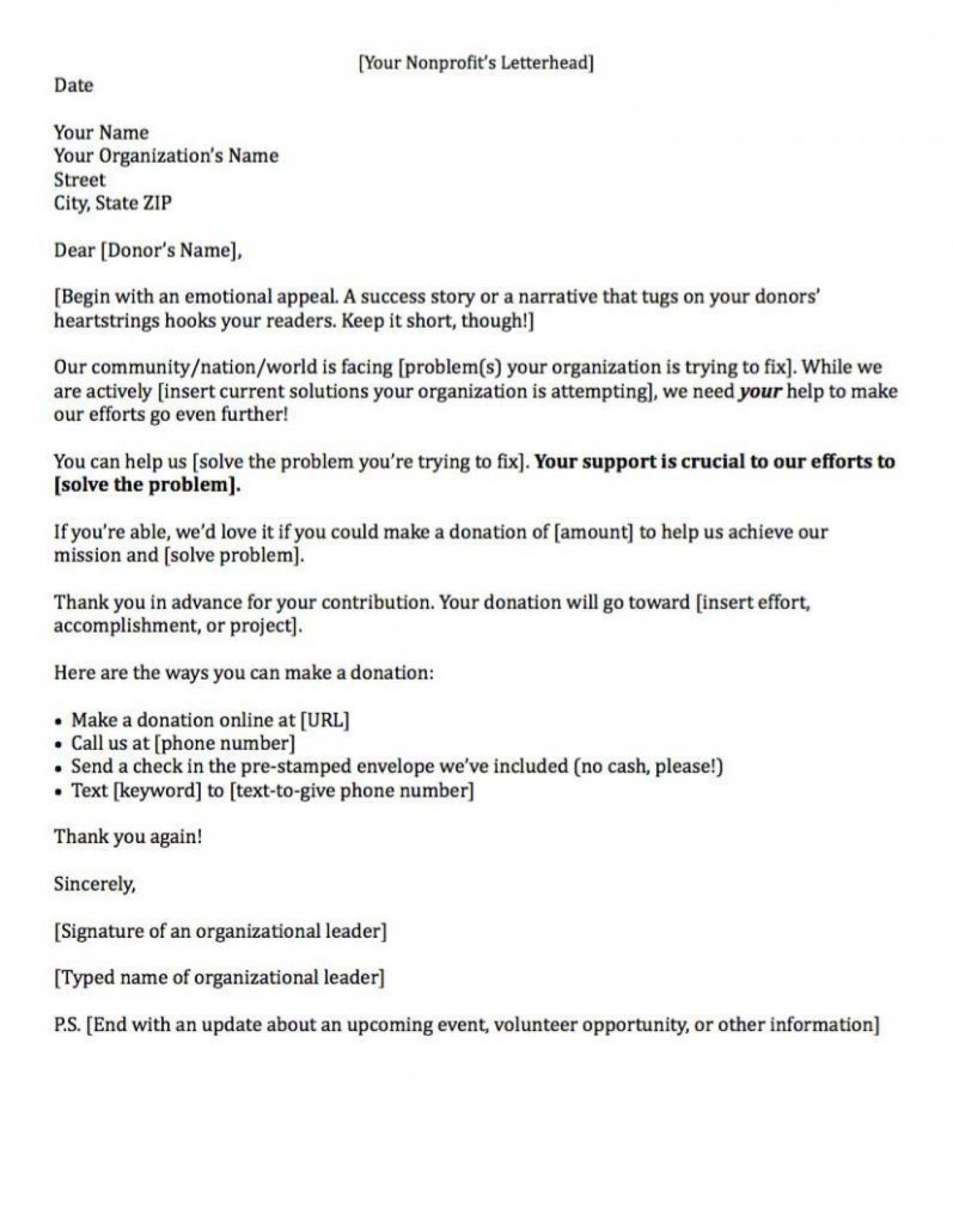 000 Sensational Fund Raising Letter Template Example  Fundraising For Mission Trip School Sample Of A Nonprofit Organization1400