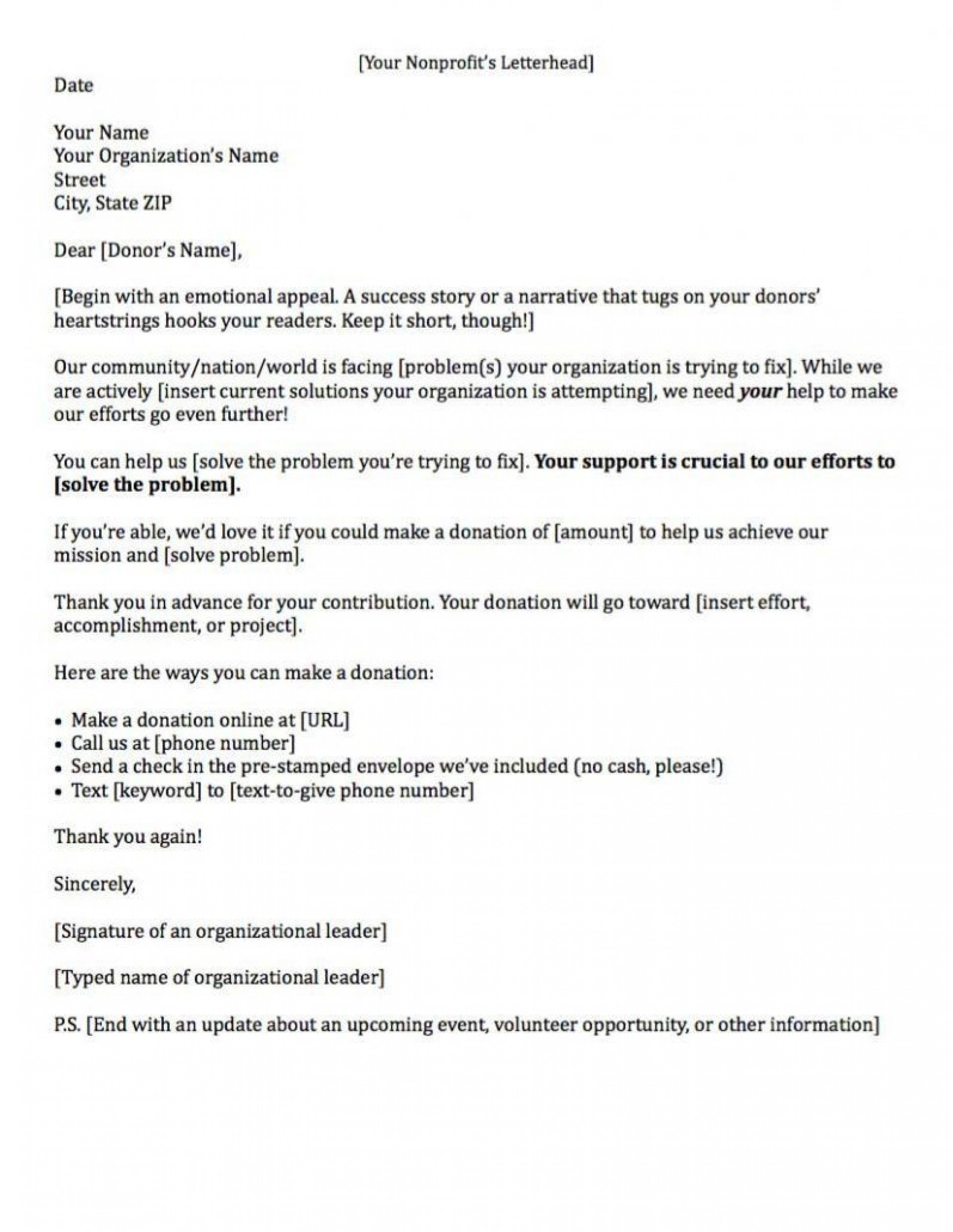 000 Sensational Fund Raising Letter Template Example  Templates Of Fundraising Appeal For Mission Trip Uk1920
