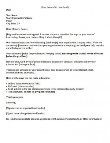 000 Sensational Fund Raising Letter Template Example  Fundraising For Mission Trip School Sample Of A Nonprofit Organization360