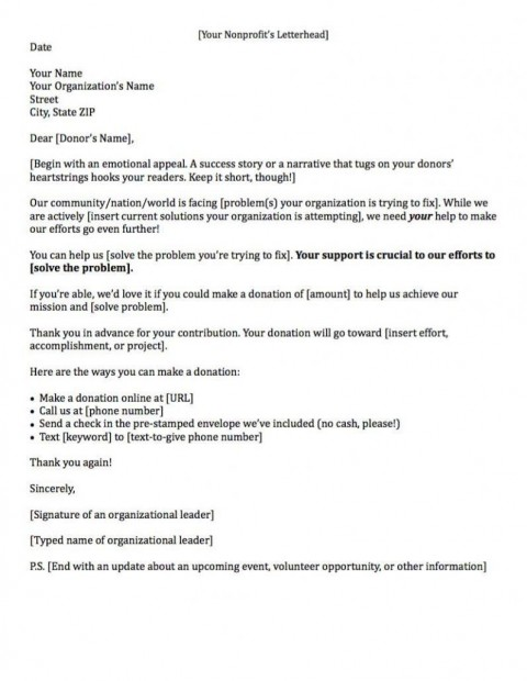 000 Sensational Fund Raising Letter Template Example  Fundraising For Mission Trip School Sample Of A Nonprofit Organization480