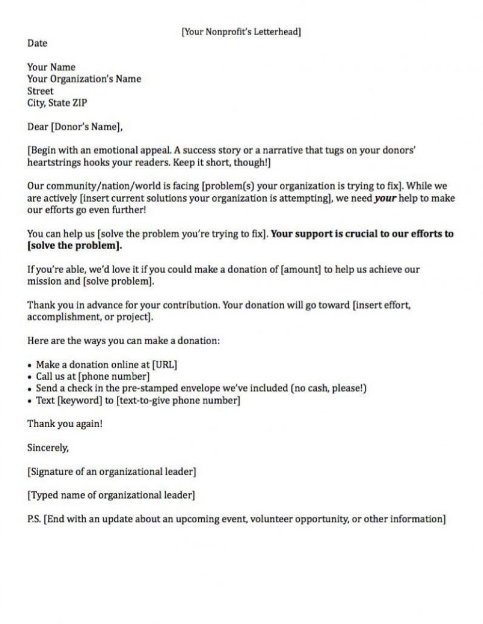000 Sensational Fund Raising Letter Template Example  Fundraising For Mission Trip School Sample Of A Nonprofit Organization960
