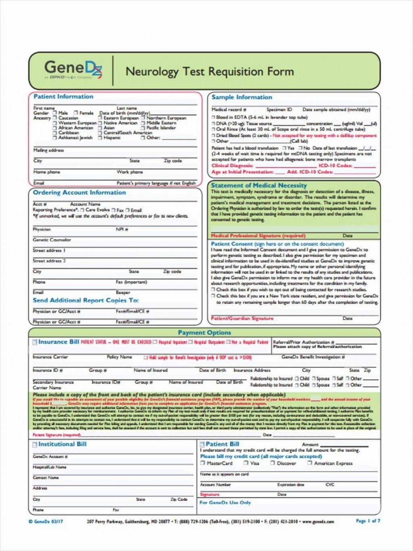 000 Sensational Lab Requisition Form Template Idea  Quest Diagnostic PdfLarge