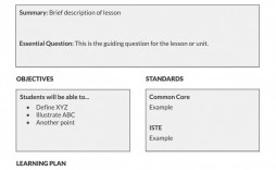 000 Sensational Lesson Plan Outline Template Sample  Example Blank Free Pe