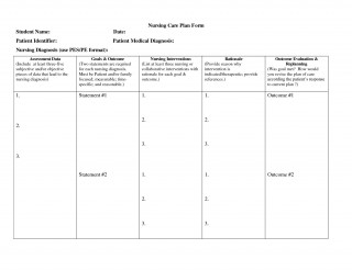 000 Sensational Nursing Care Plan Template High Resolution  Free Pdf Download320